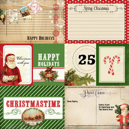 Carta Bella Cut-Outs - Christmas Time - Journaling Cards