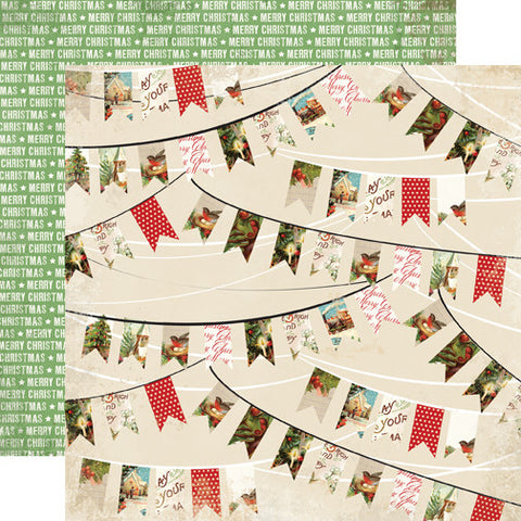 Carta Bella Papers - Christmas Time - Holiday Banners - 2 Sheets