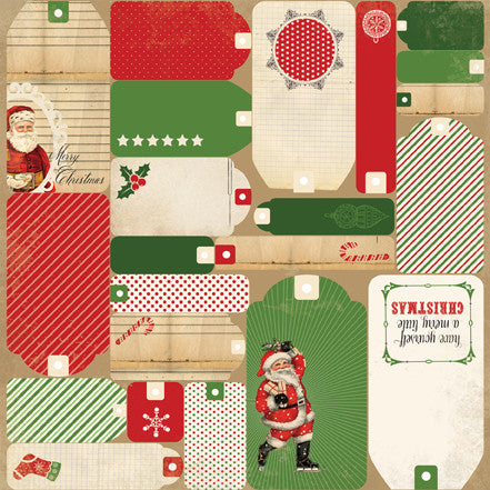 Carta Bella Cut-Outs - Christmas Time - Christmas Tags