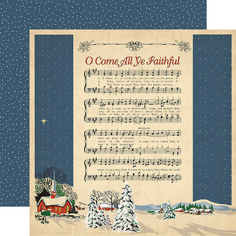 Carta Bella Papers - Christmas Wonderland - Joyful and Triumphant - 2 Sheets