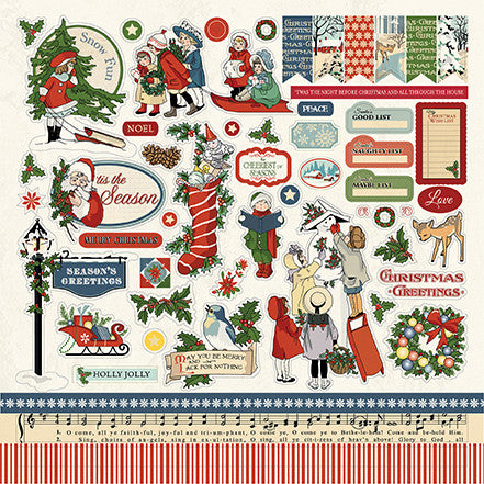 Carta Bella 12x12 Cardstock Stickers - Christmas Wonderland - Elements