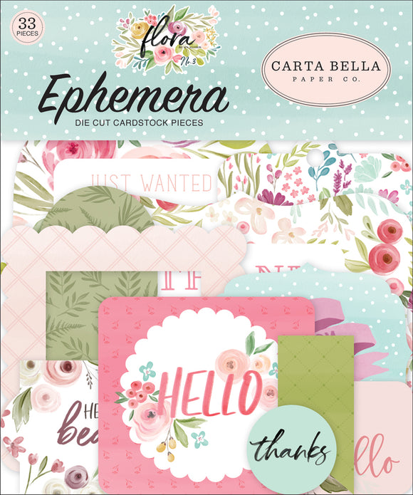 Carta Bella Ephemera Die-Cuts - Flora