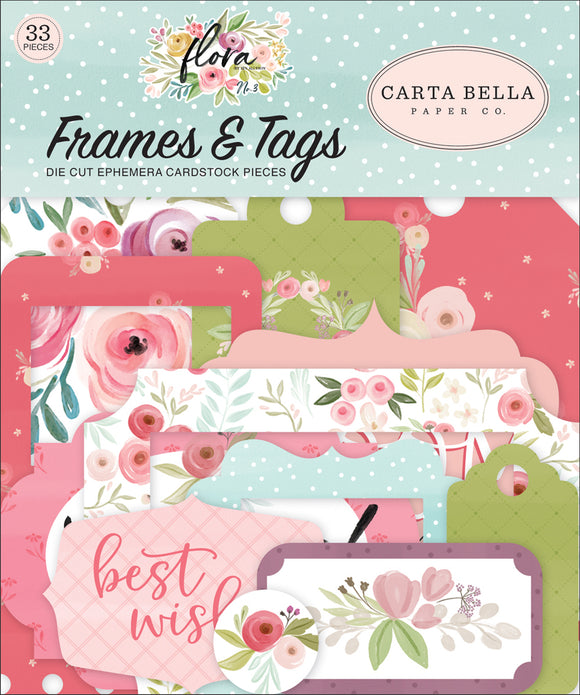 Carta Bella Frames & Tags Die-Cuts - Flora
