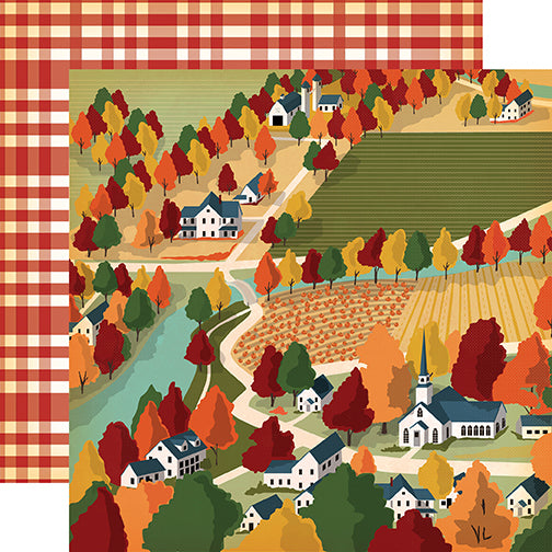 Carta Bella Papers - Fall Break - Harvest Town - 2 Sheets