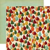 Carta Bella Papers - Fall Break - Autumn Trees - 2 Sheets