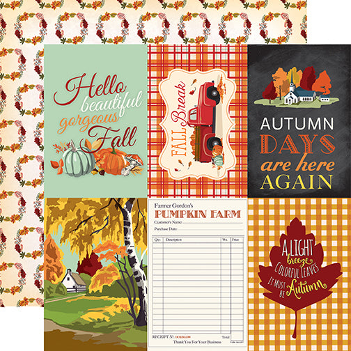 Carta Bella Cut-Outs - Fall Break - 4x6 Journaling Cards