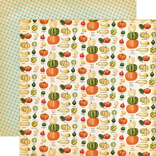 Carta Bella Papers - Fall Break - Gourd Variety - 2 Sheets