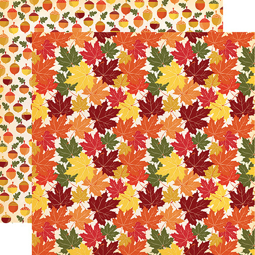 Carta Bella Papers - Fall Break - Crunchy Leaves - 2 Sheets