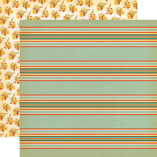 Carta Bella Papers - Fall Break - Scarecrow Stripe - 2 Sheets