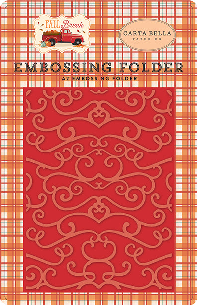 Carta Bella Embossing Folder - Fall Break - Fall Flourish