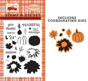 Carta Bella Die and Stamp Set - Fall Break - Thankfully Layering
