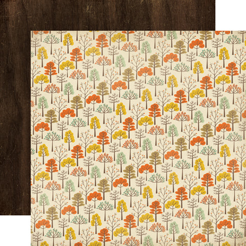 Carta Bella Papers - Fall Blessings - Autumn Trees - 2 Sheets