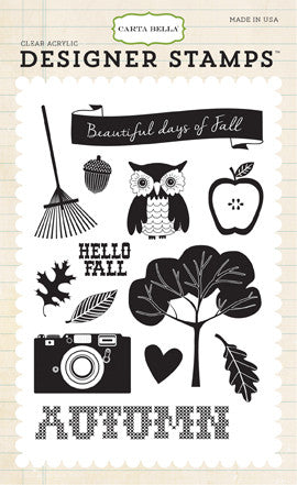 Carta Bella Stamp Set - Fall Blessings - Fall Days