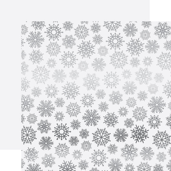 Carta Bella Papers - Let It Snow - White Snowflake Foil - 2 Sheets