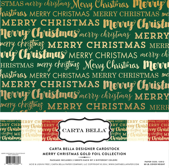 Carta Bella Collection Kit - Merry Christmas Gold Foil