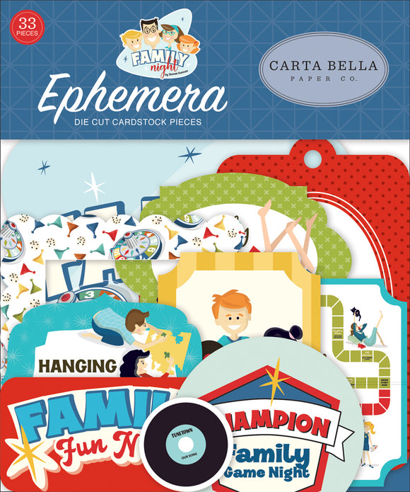 Carta Bella Ephemera Die-Cuts - Family Night