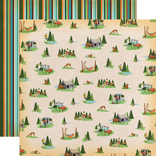 Carta Bella Papers - Gone Camping - Campout - 2 Sheets