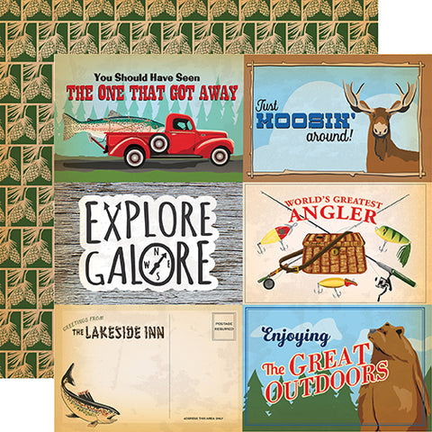 Carta Bella Cut-Outs - Gone Camping - 4x6 Journaling Cards