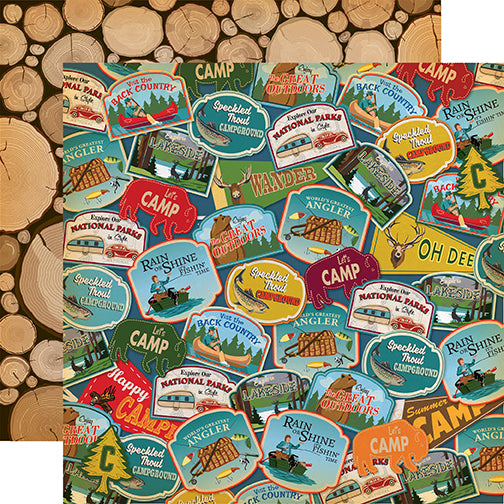 Carta Bella Papers - Gone Camping - Travel Patches - 2 Sheets