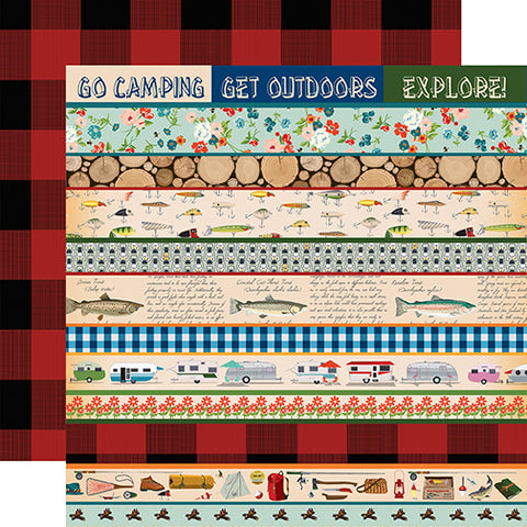 Carta Bella Cut-Outs - Gone Camping - Border Strips