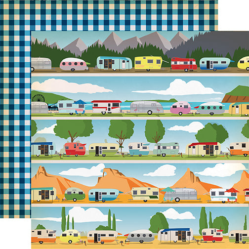 Carta Bella Cut-Outs - Gone Camping - Happy Campers
