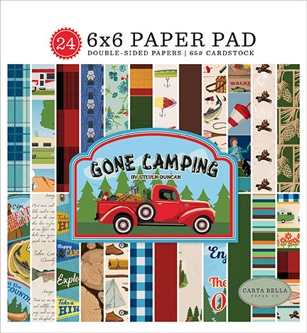 Carta Bella 6x6 Pad - Gone Camping