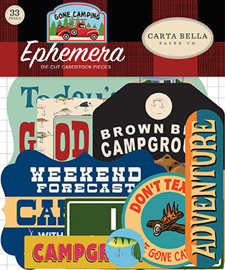 Carta Bella Ephemera Die-Cuts - Gone Camping