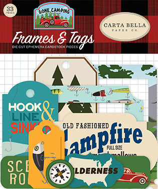 Carta Bella Frames & Tags Die-Cuts - Gone Camping
