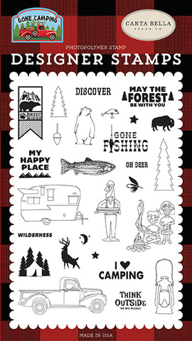 Carta Bella Clear Stamp Set - Gone Camping - My Happy Place