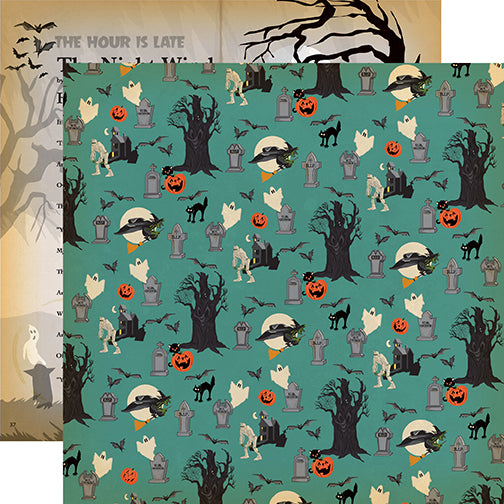 Carta Bella Papers - Happy Halloween - Graveyard - 2 Sheets