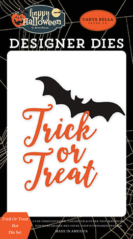 Carta Bella Designer Dies - Happy Halloween - Trick or Treat Bat Die Set