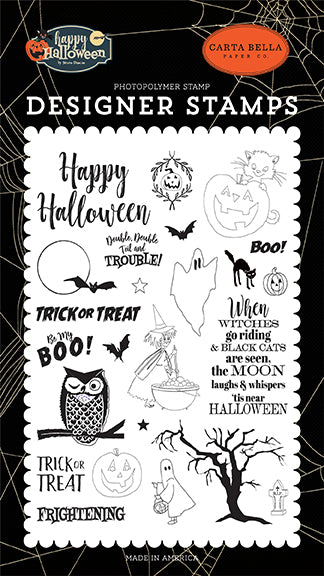 Carta Bella Clear Stamp Set - Happy Halloween - Toil & Trouble