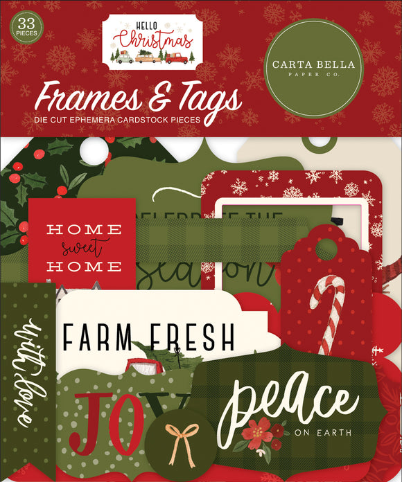 Carta Bella Frames & Tags Die-Cuts - Hello Christmas