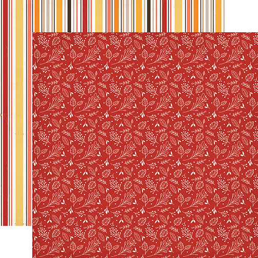 Carta Bella Papers - Hello Fall - Fall Foliage - 2 Sheets