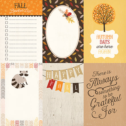 Carta Bella Cut-Outs - Hello Fall - 4x6 Journaling Cards