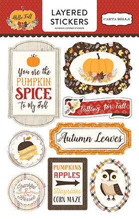 Carta Bella Layered Stickers - Hello Fall