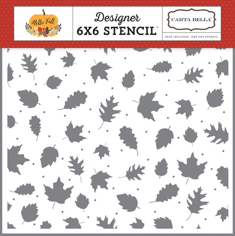 Carta Bella 6x6 Stencil - Hello Fall - Fall Leaves