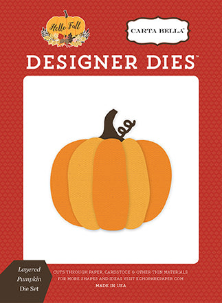 Carta Bella Designer Dies - Hello Fall - Layered Pumpkin Set