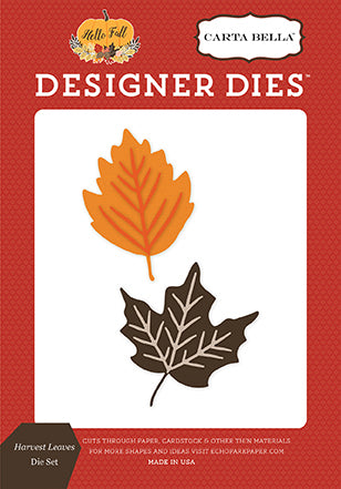 Carta Bella Designer Dies - Hello Fall - Harvest Leaves Set