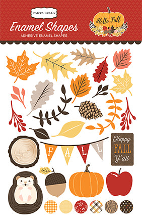 Carta Bella Enamel Stickers - Hello Fall - Shapes