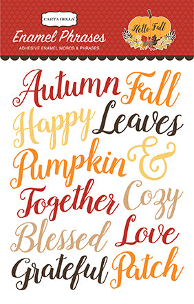 Carta Bella Enamel Stickers - Hello Fall - Words