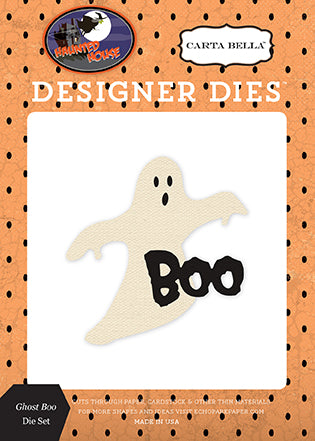 Carta Bella Designer Dies - Haunted House - Ghost Boo Set