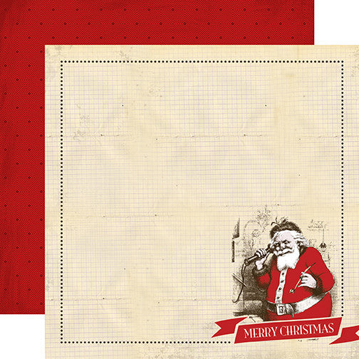 Carta Bella Papers - Have a Merry Christmas - Santa Claus - 2 Sheets