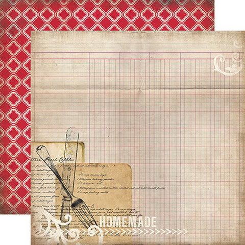 Carta Bella Papers - Home Sweet Home - Recipe Card - 2 Sheets