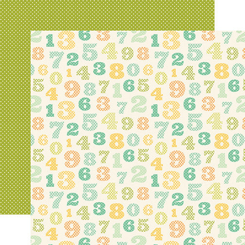 Carta Bella Papers - It's a Boy - Counting Numbers - 2 Sheets