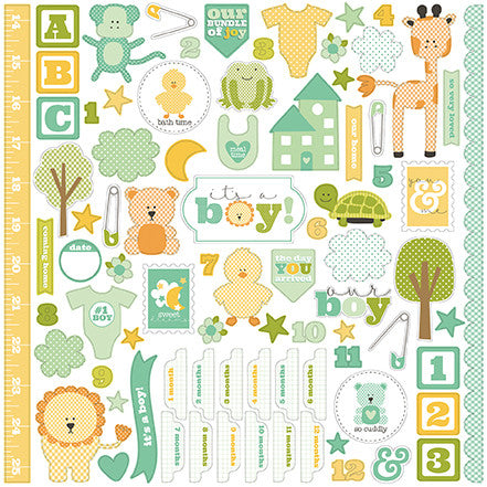 Carta Bella 12x12 Cardstock Stickers - It's a Boy - Elements