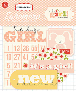 Carta Bella Ephemera Die-Cuts - It's a Girl