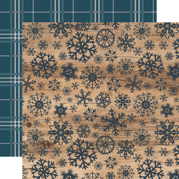 Carta Bella Papers - Let It Snow - Swirling Snowflakes - 2 Sheets