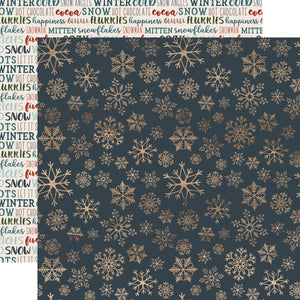 Carta Bella Papers - Let It Snow - Icy Snowflakes - 2 Sheets
