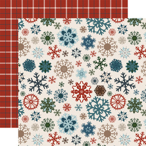 Carta Bella Papers - Let It Snow - Glistening Snowflakes - 2 Sheets